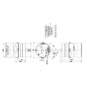 Центробежный вентилятор G3G125AA2010 G3G125-AA20-10