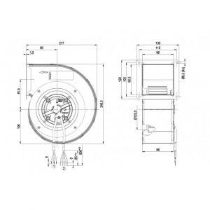 Центробежный вентилятор G3G140RF2311 G3G140-RF23-11