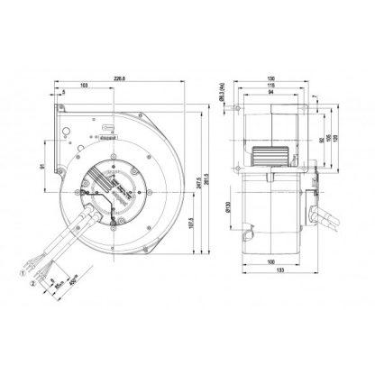 Центробежный вентилятор G3G160AD5201 G3G160-AD52-01