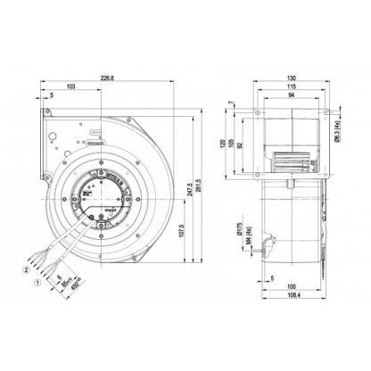 Центробежный вентилятор G3G160CU0911 G3G160-CU09-11