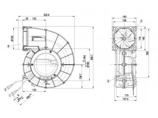Центробежный вентилятор G3G190RQ4504 G3G190-RQ45-04