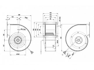 Центробежный вентилятор G4D180BD2816 G4D180-BD28-16