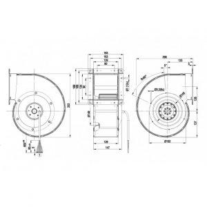 Центробежный вентилятор G4D180BD2817 G4D180-BD28-17