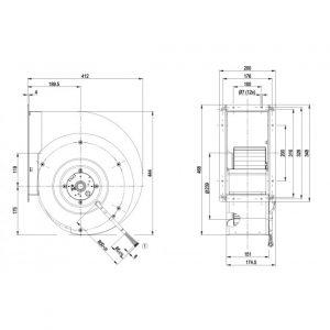 Центробежный вентилятор G4D280AI0305 G4D280-AI03-05