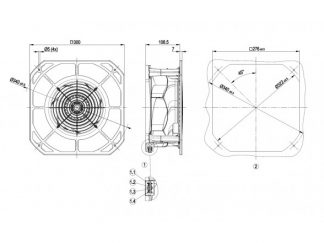 Вентилятор K2E250RA5011  K2E250-RA50-11