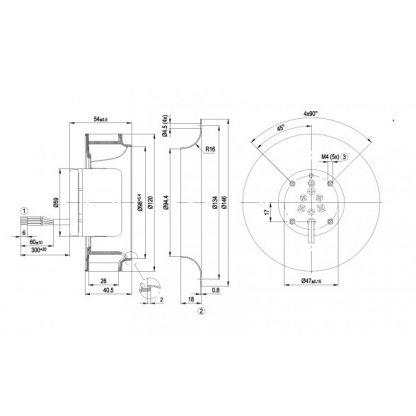 Центробежный вентилятор R1G120AD1302 R1G120-AD13-02
