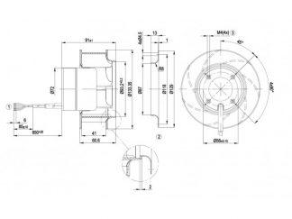 Центробежный вентилятор R1G133AA6547 R1G133-AA65-47