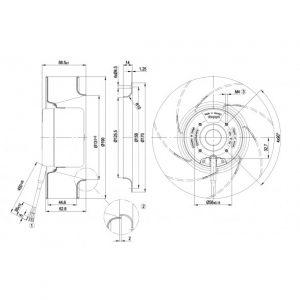 Центробежный вентилятор R1G190AC3752 R1G190-AC37-52