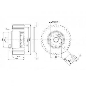 Центробежный вентилятор R2D160AC0213 R2D160-AC02-13