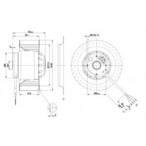 Центробежный вентилятор R2D160AF2827 R2D160-AF28-27