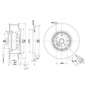 Вентилятор R2D190AC0810  R2D190-AC08-10