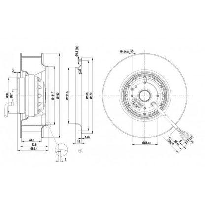 Вентилятор R2D190AC0822  R2D190-AC08-22
