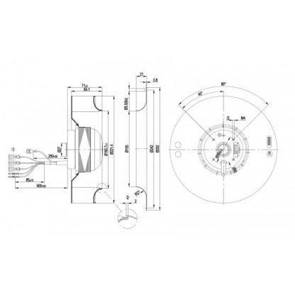 Центробежный вентилятор R2D220AC1420 R2D220-AC14-20