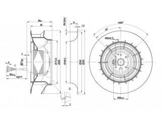 Вентилятор R2D250RA1001  R2D250-RA10-01