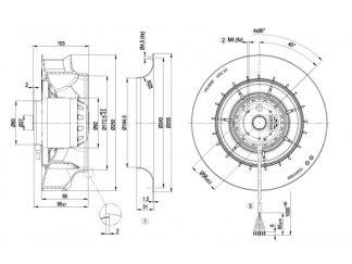 Вентилятор R2D250RA1018  R2D250-RA10-18