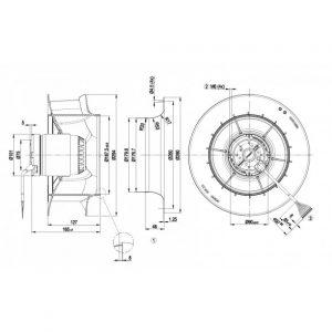 Центробежный вентилятор R2D280RB0601 R2D280-RB06-01