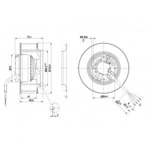 Центробежный вентилятор R2E133BH6607 R2E133-BH66-07