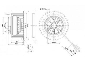 Центробежный вентилятор R2E140AE7705 R2E140-AE77-05