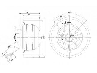 Вентилятор R2E140AF4818  R2E140-AF48-18