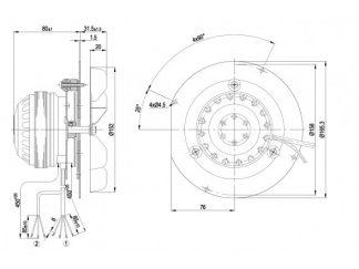 Центробежный вентилятор R2E150AN9101 R2E150-AN91-01