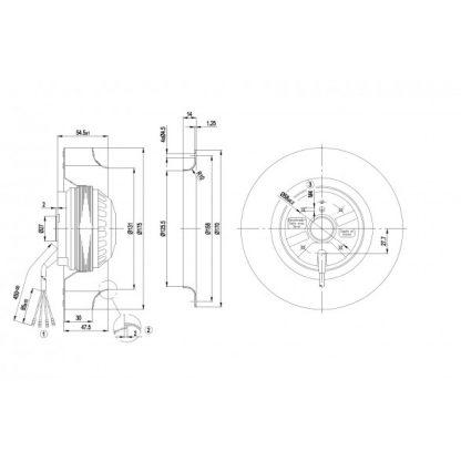 Центробежный вентилятор R2E175AC7720 R2E175-AC77-20