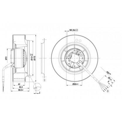 Центробежный вентилятор R2E175AR7005 R2E175-AR70-05