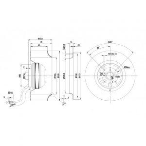 Центробежный вентилятор R2E180AS7705 R2E180-AS77-05