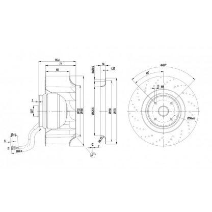 Центробежный вентилятор R2E180AT0615 R2E180-AT06-15