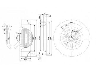 Центробежный вентилятор R2E180CB2801 R2E180-CB28-01