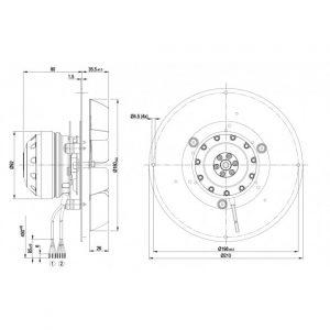 Центробежный вентилятор R2E180CF9101 R2E180-CF91-01