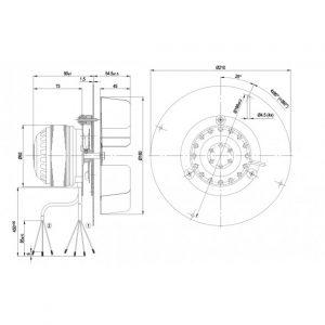 Центробежный вентилятор R2E180CG8201 R2E180-CG82-01
