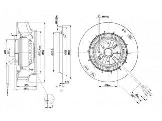 Центробежный вентилятор R2E190RA2647 R2E190-RA26-47