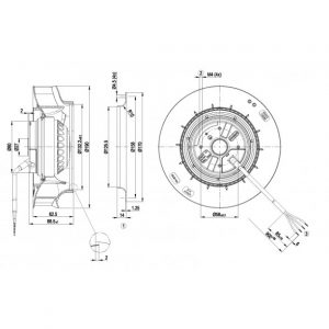 Центробежный вентилятор R2E190RA2653 R2E190-RA26-53
