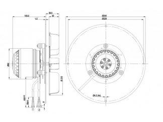 Центробежный вентилятор R2E210AA3401 R2E210-AA34-01