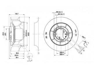 Центробежный вентилятор R3G225RE0703 R3G225-RE07-03