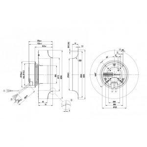 Центробежный вентилятор R3G250AH5201 R3G250-AH52-01