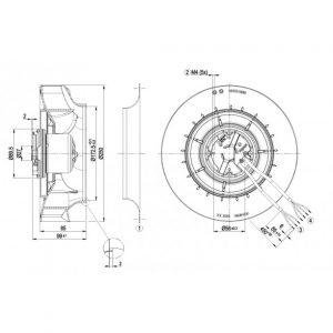Центробежный вентилятор R3G250RD1703 R3G250-RD17-03