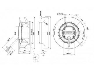 Центробежный вентилятор R3G250RNB502 R3G250-RNB5-02
