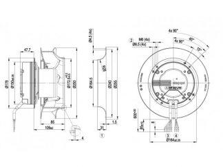 Центробежный вентилятор R3G250RO0671 R3G250-RO06-71