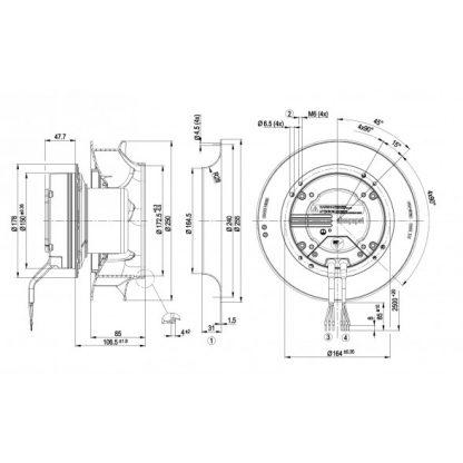 Вентилятор R3G250RO40A5  R3G250-RO40-A5