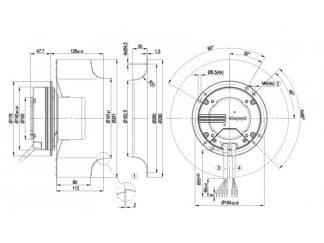 Центробежный вентилятор R3G280AF3571 R3G280-AF35-71