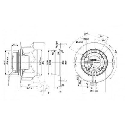 Вентилятор R3G280RO4071  R3G280-RO40-71