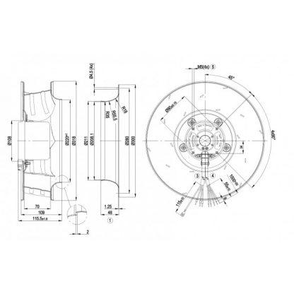 Центробежный вентилятор R3G310AJ3111 R3G310-AJ31-11