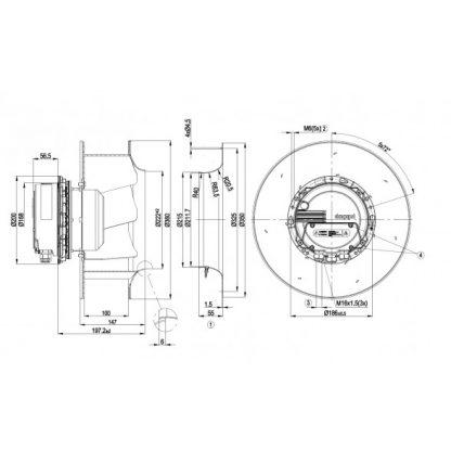 Центробежный вентилятор R3G310AX5290 R3G310-AX52-90
