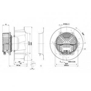 Центробежный вентилятор R3G310AX5421 R3G310-AX54-21