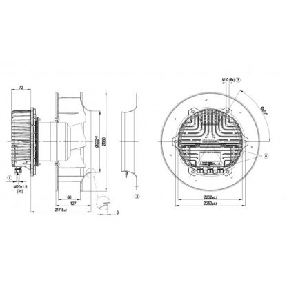 Вентилятор R3G310AZ8801  R3G310-AZ88-01