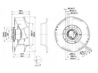 Центробежный вентилятор R3G310RB0103 R3G310-RB01-03