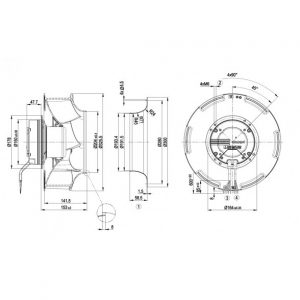 Центробежный вентилятор R3G310RO38A1 R3G310-RO38-A1