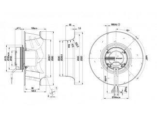 Вентилятор R3G355AM2971  R3G355-AM29-71