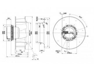 Центробежный вентилятор R3G355AX5690 R3G355-AX56-90